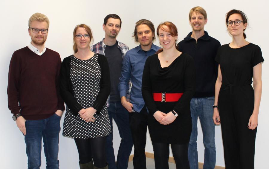 Die Fachschaft Latein 2019 (v.l.): Herr Buhl, Frau Dr. Vergin, Herr Oesting, Herr Gütschow, Frau Volz, Herr Fekkers, Frau Ottemeier
