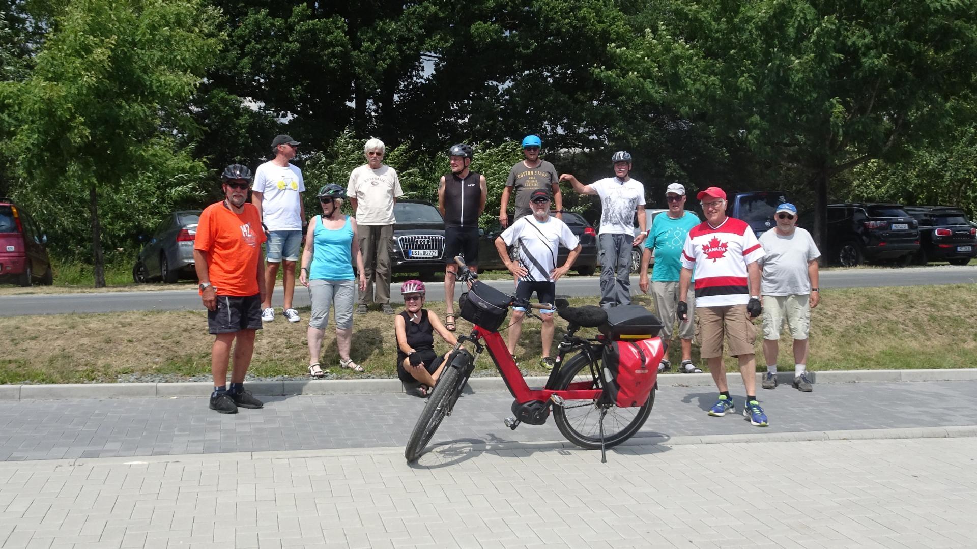 Teilnehmer*innen der Radtour vom 14.07.2020