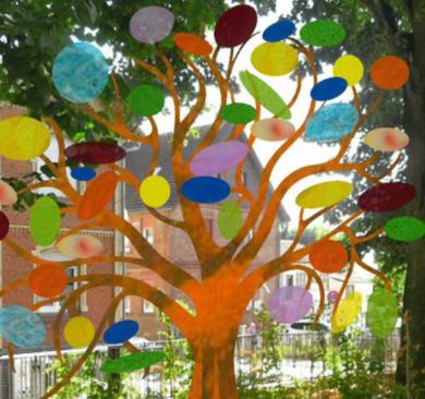 Zeigt den Bunten Baum Entwurf