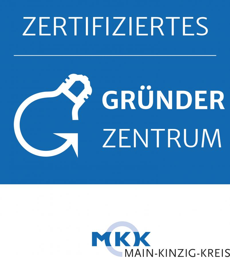 Das Maintaler Gründerzentrum ist durch den Main-Kinzig-Kreis zertifiziert. Das Bild zeigt das Logo des Zertifikats.