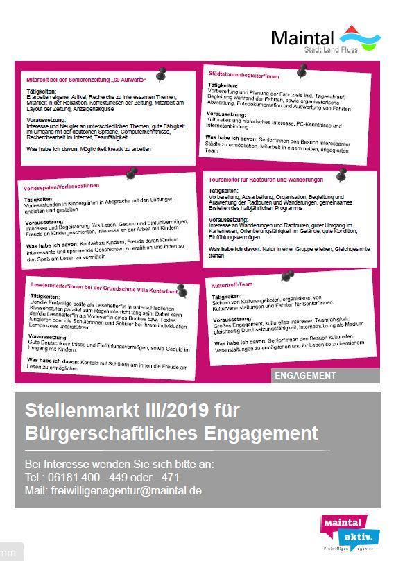 Stellenmarkt III/2019