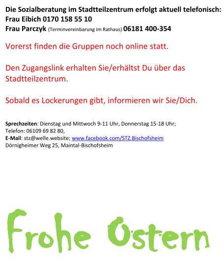 Termine April 2021 im Stadtteilzentrum Bischofsheim - Seite 2