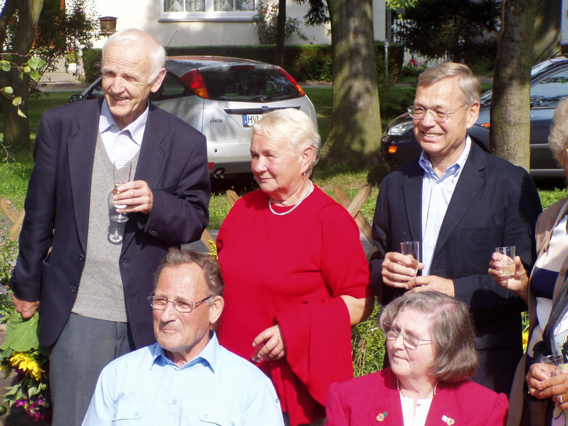 Besuch Günter de Bruyn in Garlitz, 2005