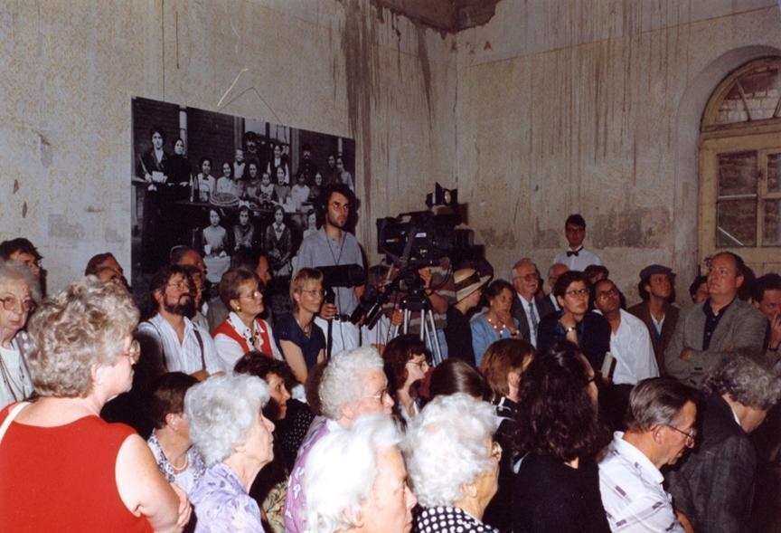 eine der ersten Veranstaltungen in der Synagoge anlässlich des 100jährigen Bestehens 1996, Foto: unbekannt