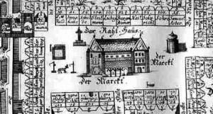 Historischer Stadtplan Kamprad - Ausschnitt Rathaus