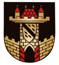Die Farben des Leisniger  Stadtwappens sind Schwarz, Rot und Gold.