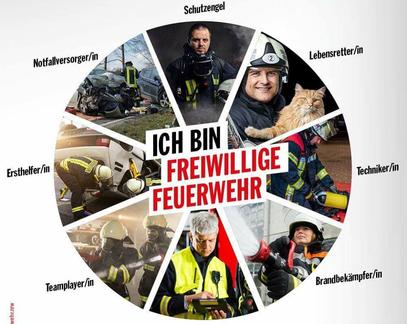 Werbung für die Feuerwehr