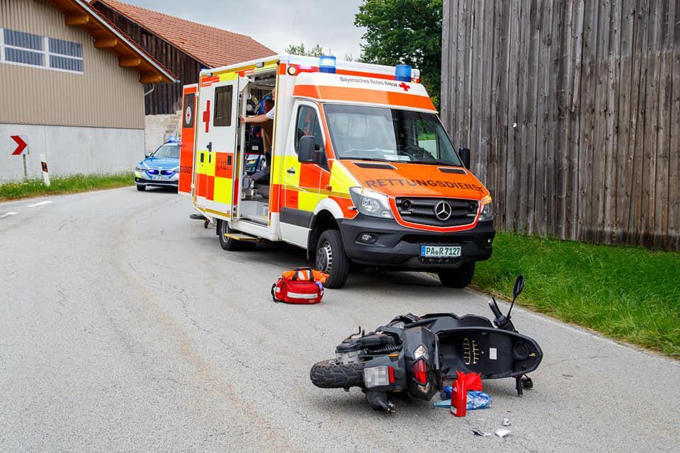 Verkehrsunfall mit Roller 02.08.2020