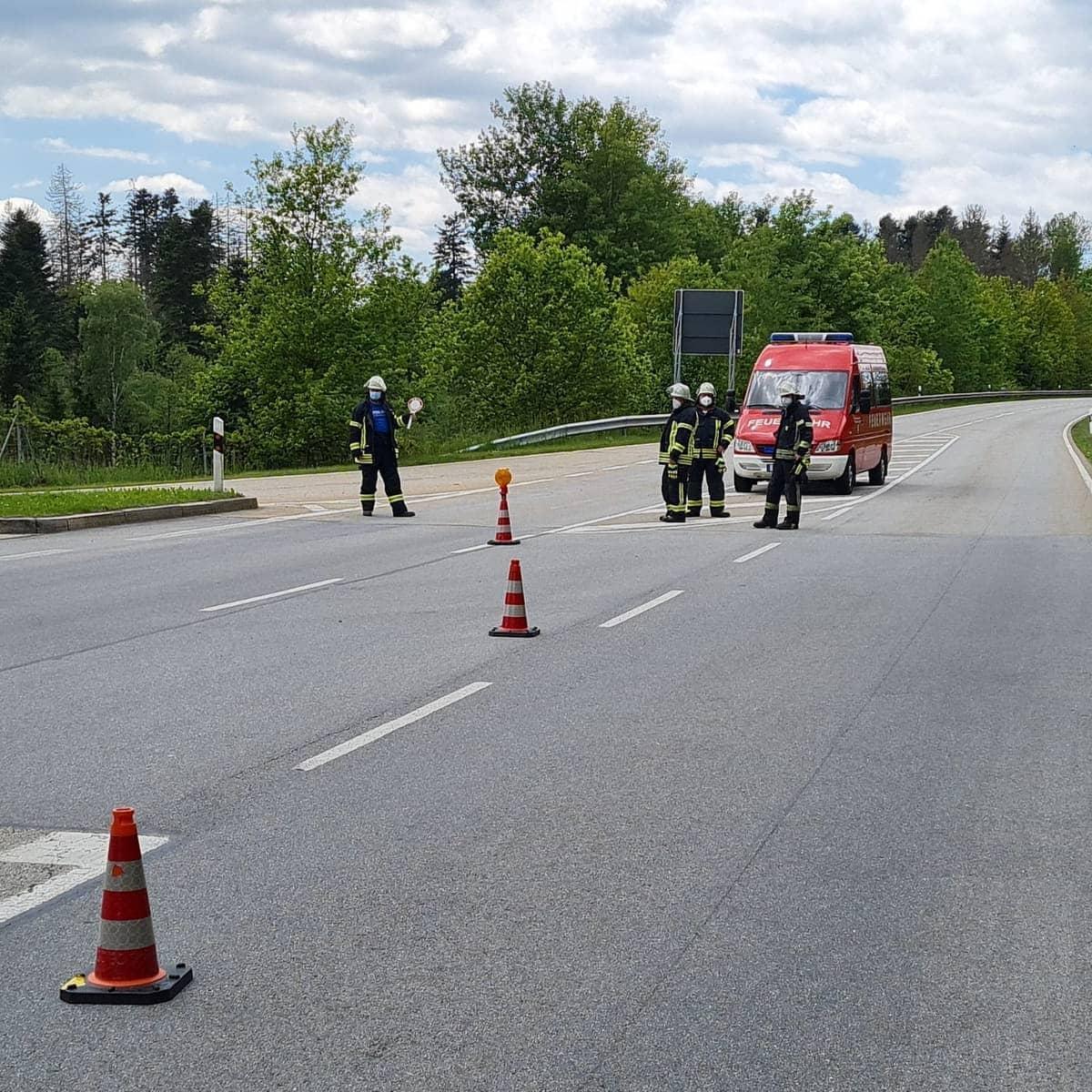Verkehrsunfall Autobahnzubringer, Höhe Firma Bayerwald30.05.2021