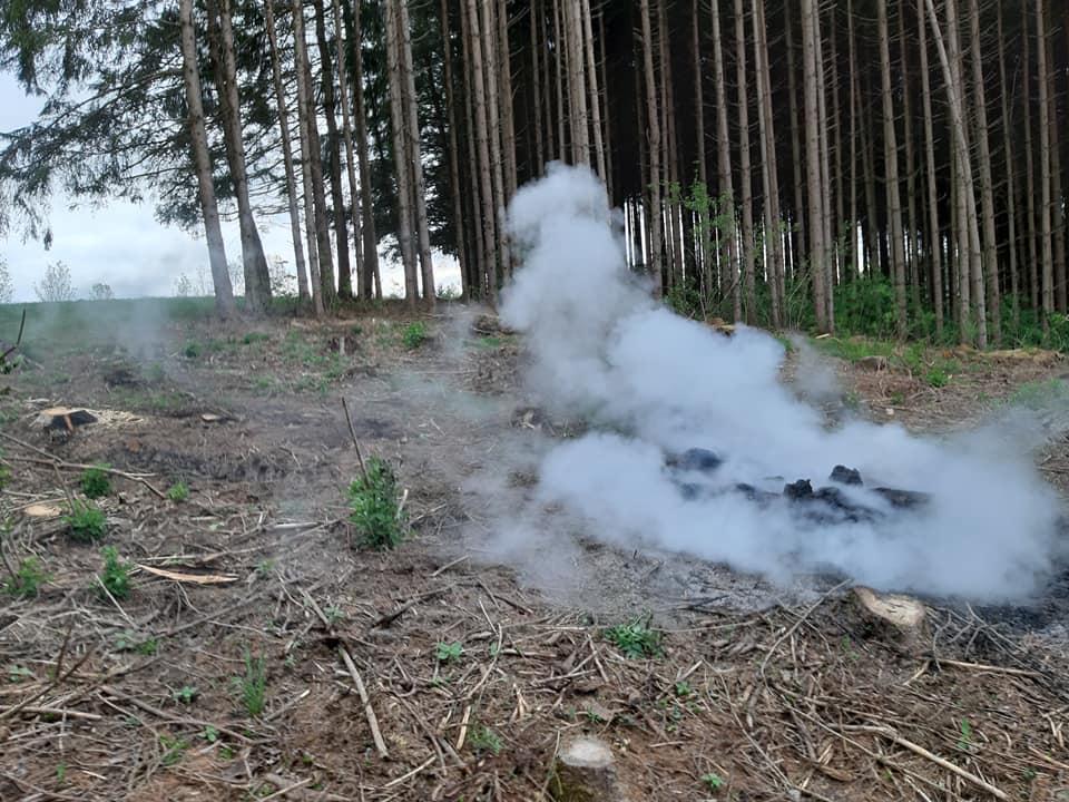 Kleinbrand im Wald 02.05.2020