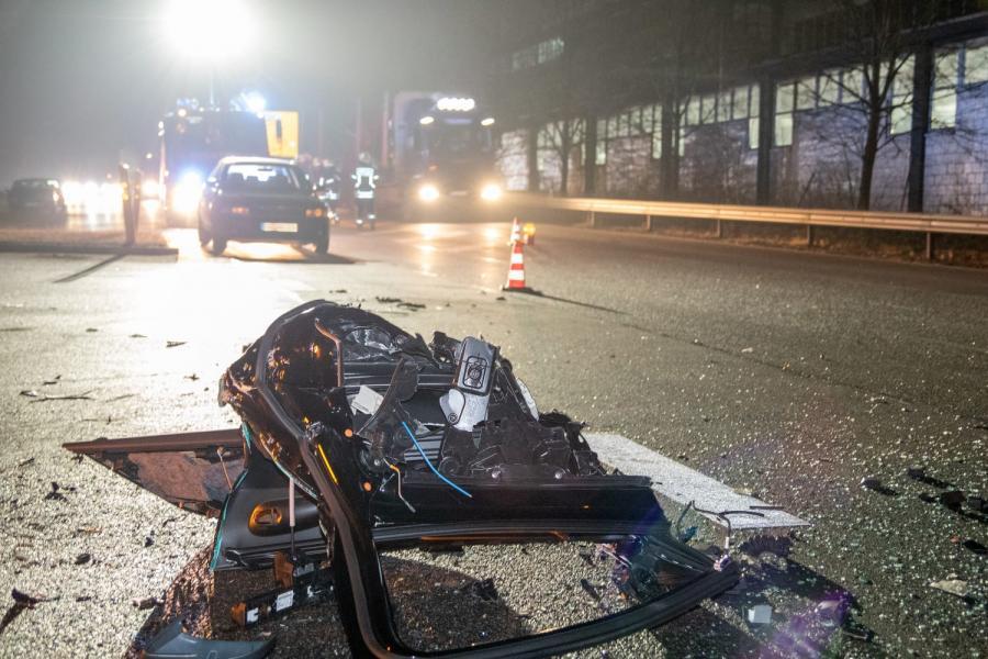 Verkehrsunfall PA93, Höhe Fensterfabrik 22.01.2020