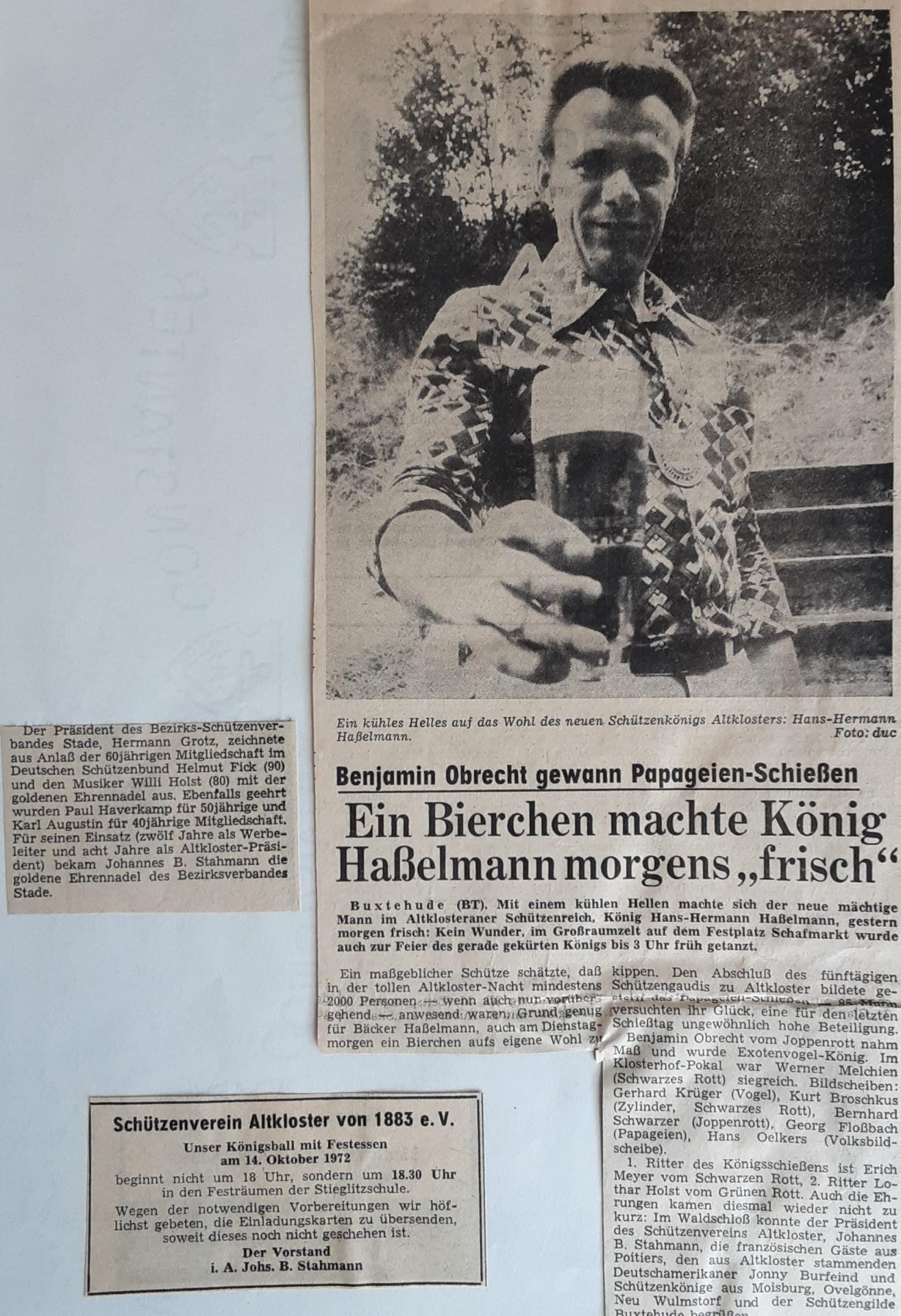 König H.-H.Haßelmann Buxtehuder Tageblatt