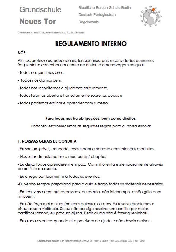 Regulamento Interno 1
