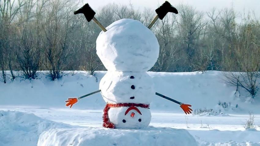 Winterferien Schneemann