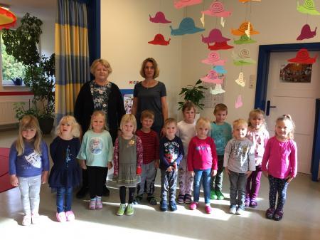 Ältere Kindergartengruppe