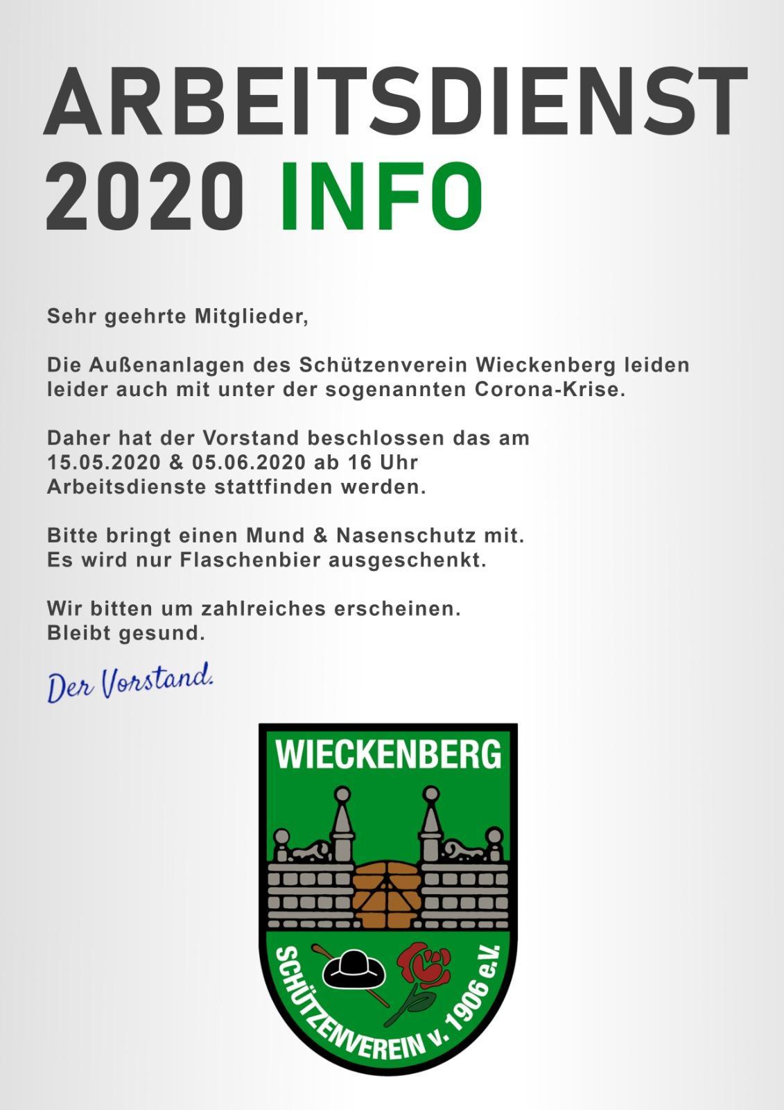 Arbeitsdienst2020