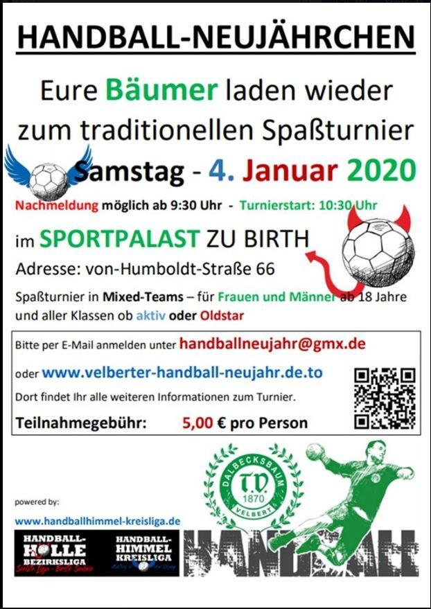 Flyer Handball-Turnier2020