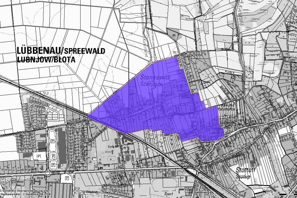 Karte Lübbenau, Quelle: Stadt Lübbenau/Spreewald