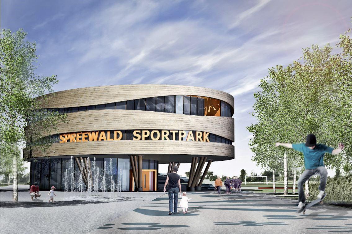 Entwurf Spreewaldstadion, Quelle: Stadt Lübbenau/Spreewald