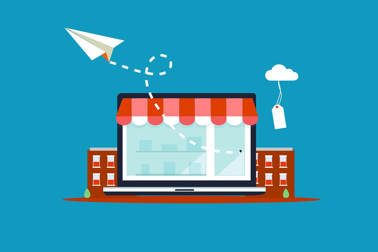 Grafik Ladengeschäft, Quelle: Bild von Megan Rexazin auf Pixabay