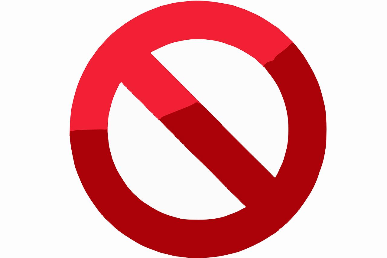 Verbotsschild, Quelle: Bild von Clker-Free-Vector-Images auf Pixabay