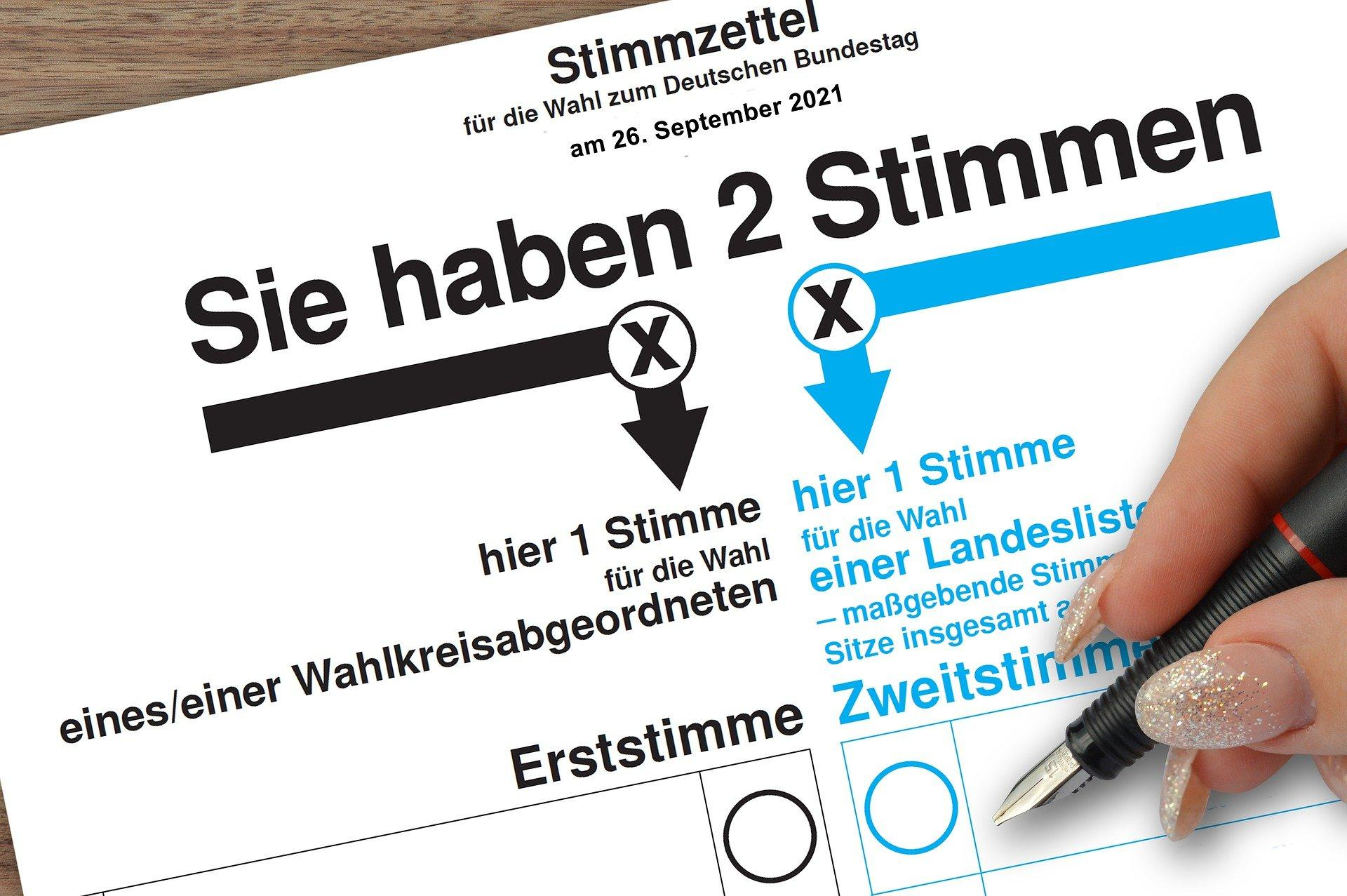 Bundestagswahl, Bild von Frauke Riether auf Pixabay