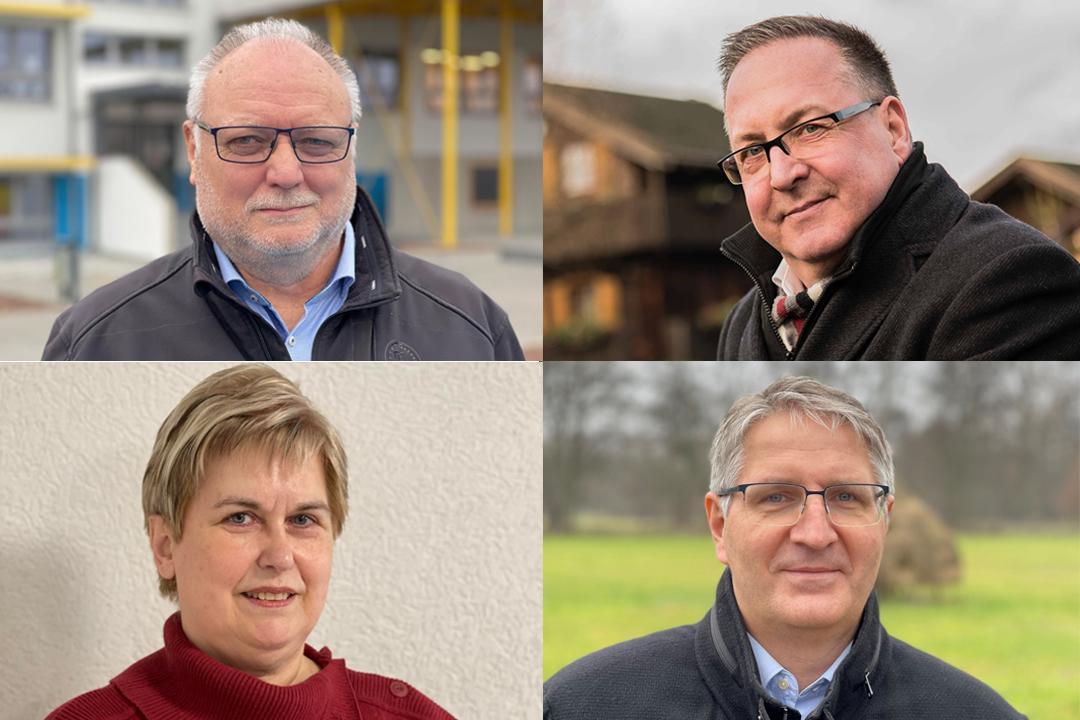 Collage Bürgermeister und Fachbereichsleiter Stadt Lübbenau/Spreewald