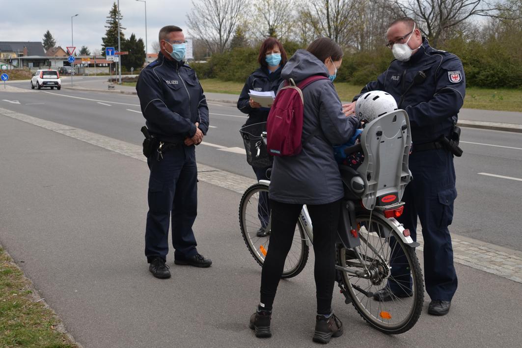Fahrradverkehrskontrollen in Lübbenau/Spreewald