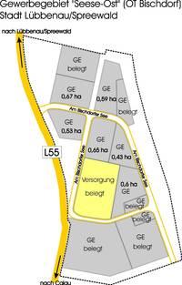Übersicht Gewerbegebiet Seese-Ost, Quelle: Stadt Lübbenau/Spreewald