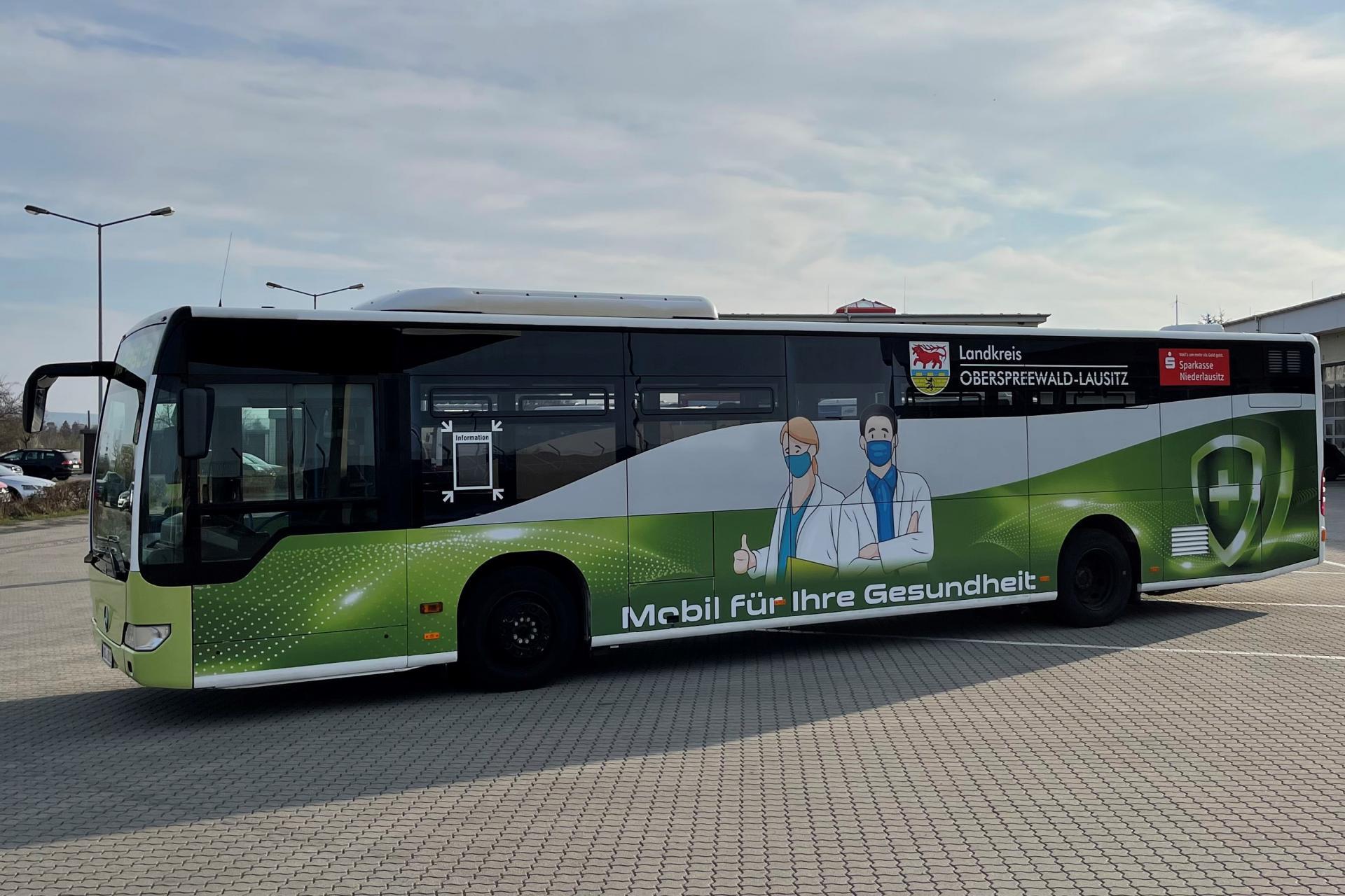 Impfbus des Landkreises OSL nimmt Betrieb auf, Quelle: Landreis OSL