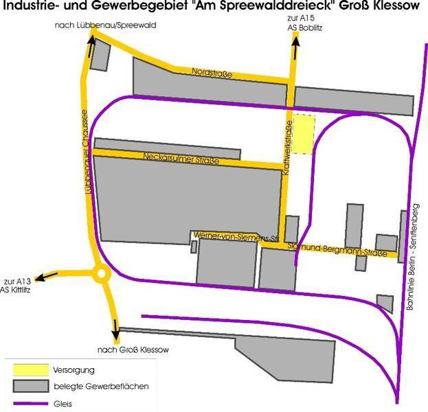 """Übersich Industrie- und Gewerbegebiet """"Am Spreewalddreieck"""", Quelle: Stadt Lübbenau/Spreewald"""