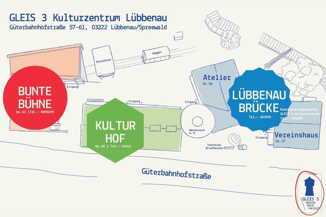 Lageplan Gleis 3 Kulturzentrum, Quelle: Gleis 3