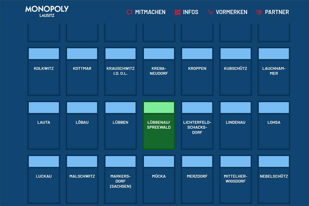 Monopoly Edition Lausitz - Abstimmung für Lübbenau