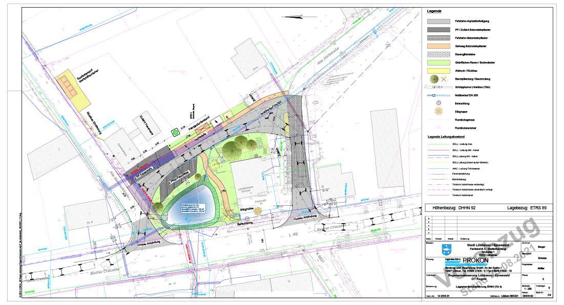 Neuordnung Lageplan Ortsteil Ragow