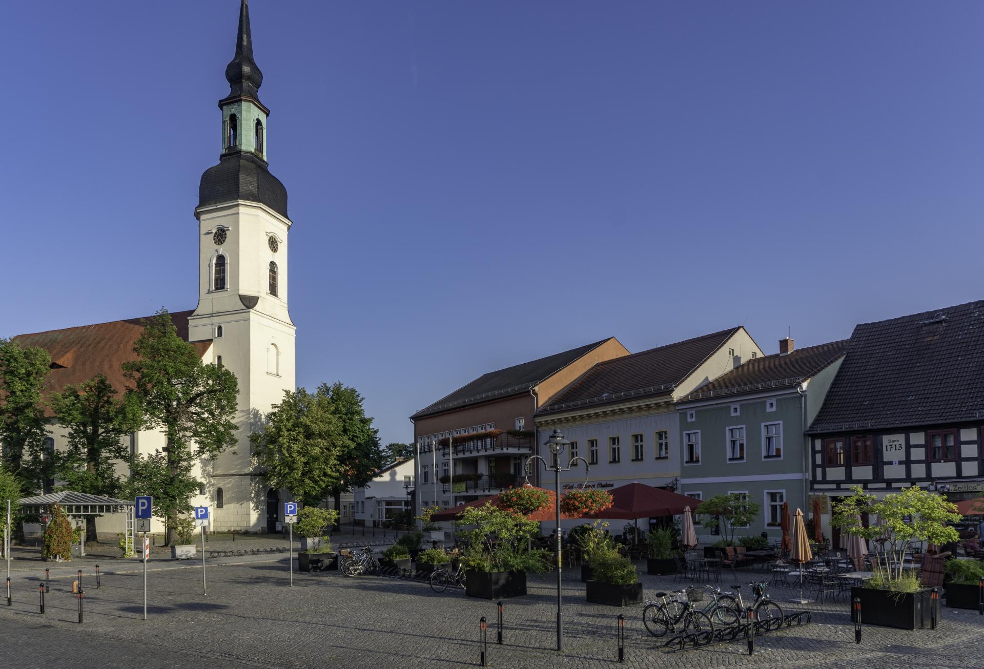 Der Marktplatz von Lübbenau/Spreewald, Foto: Peter Becker