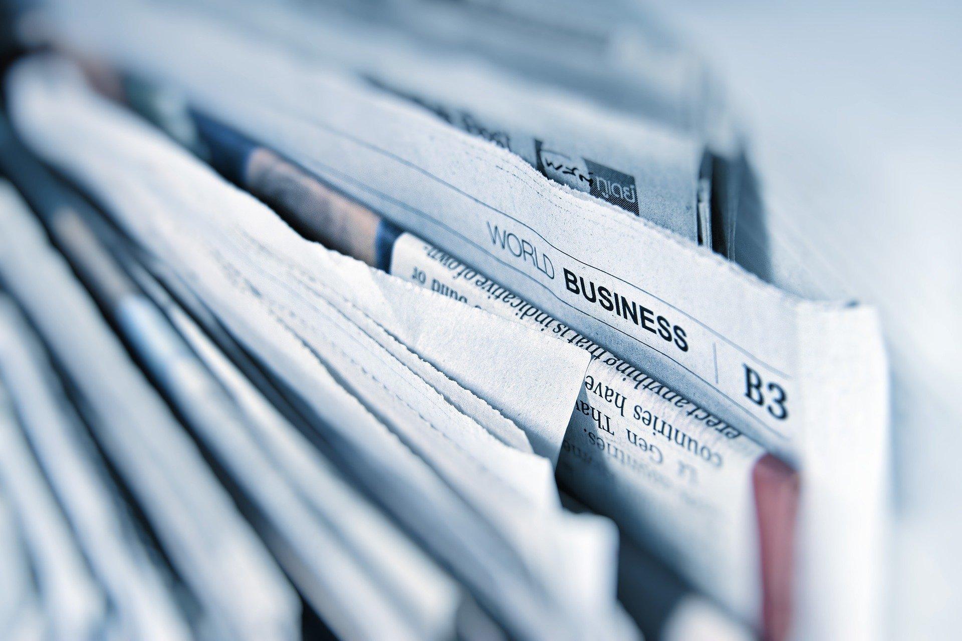 Zeitung, Quelle: Bild von Gino Crescoli auf Pixabay