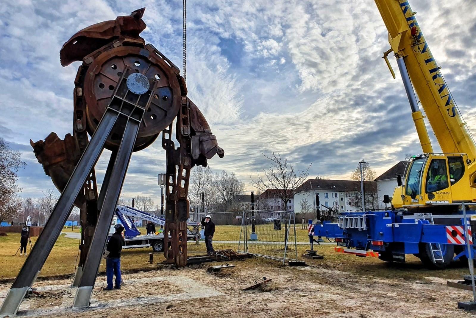 """Skulptur """"Interrupt in der Lausitz"""", Quelle: LÜBBENAUBRÜCKE"""