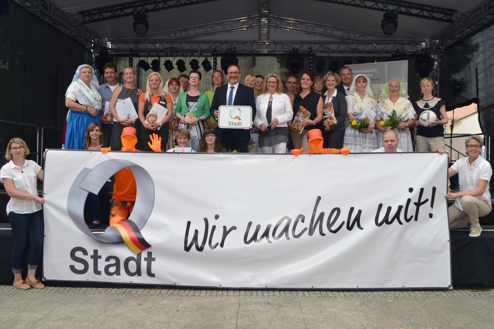 Vertreter der Lübbenauer Q-Betriebe, Foto: Stadt Lübbenau/Spreewald