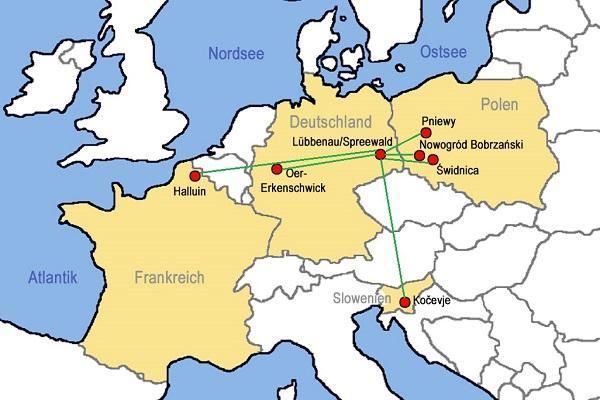 Europakarte, Quelle: Stadt Lübbenau/Spreewald