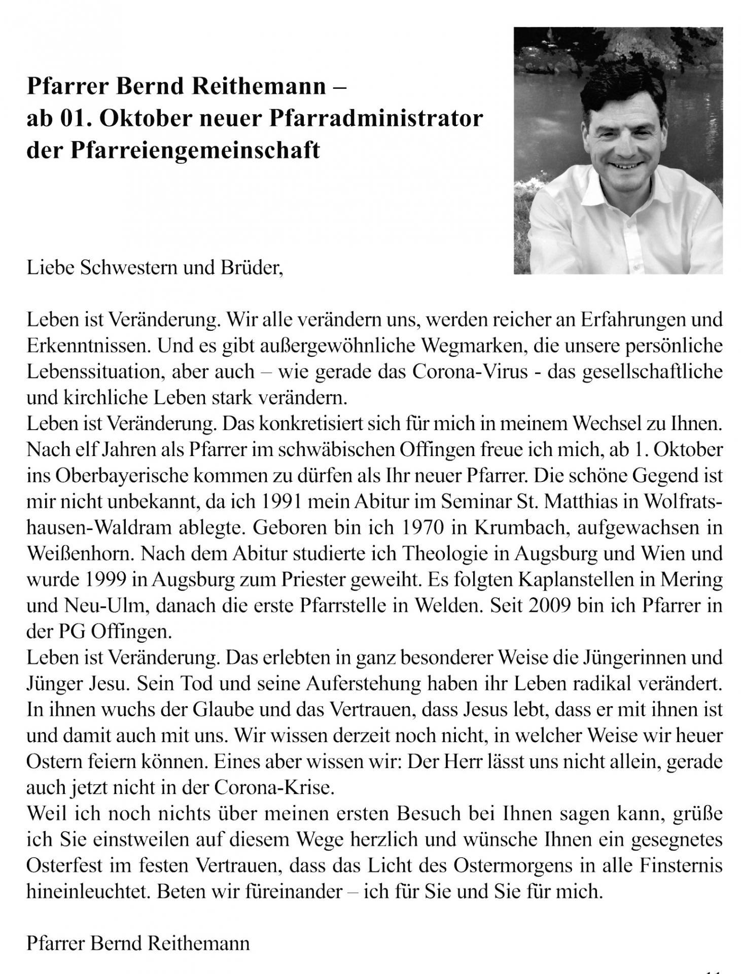Pfarrer Bernd Reithemann