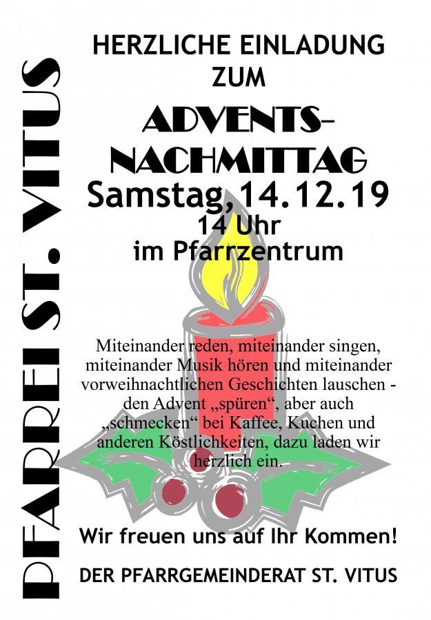 Plakat Adventsnachmittag 2019