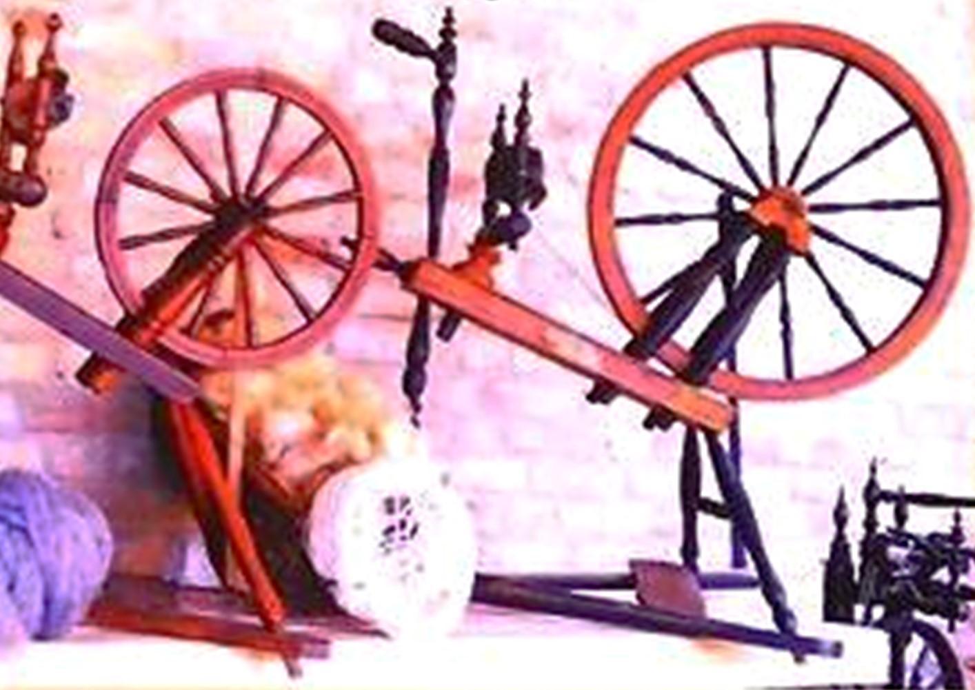 Spinnrad-Ausstellung auf unserem Hof