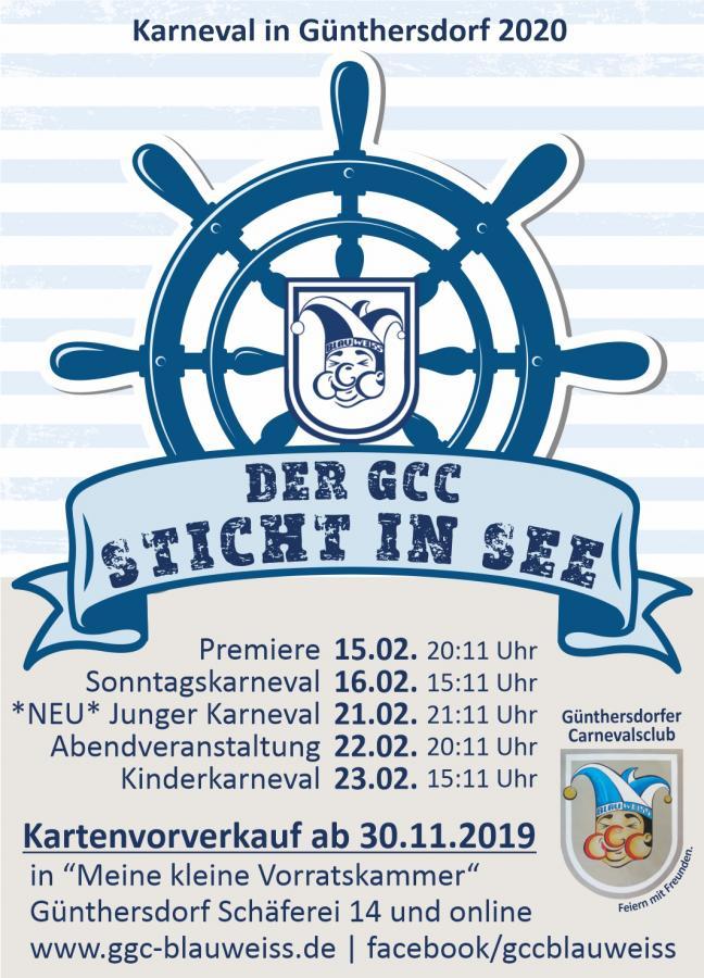 Der GCC sticht in See - Karneval in Günthersdorf 2020