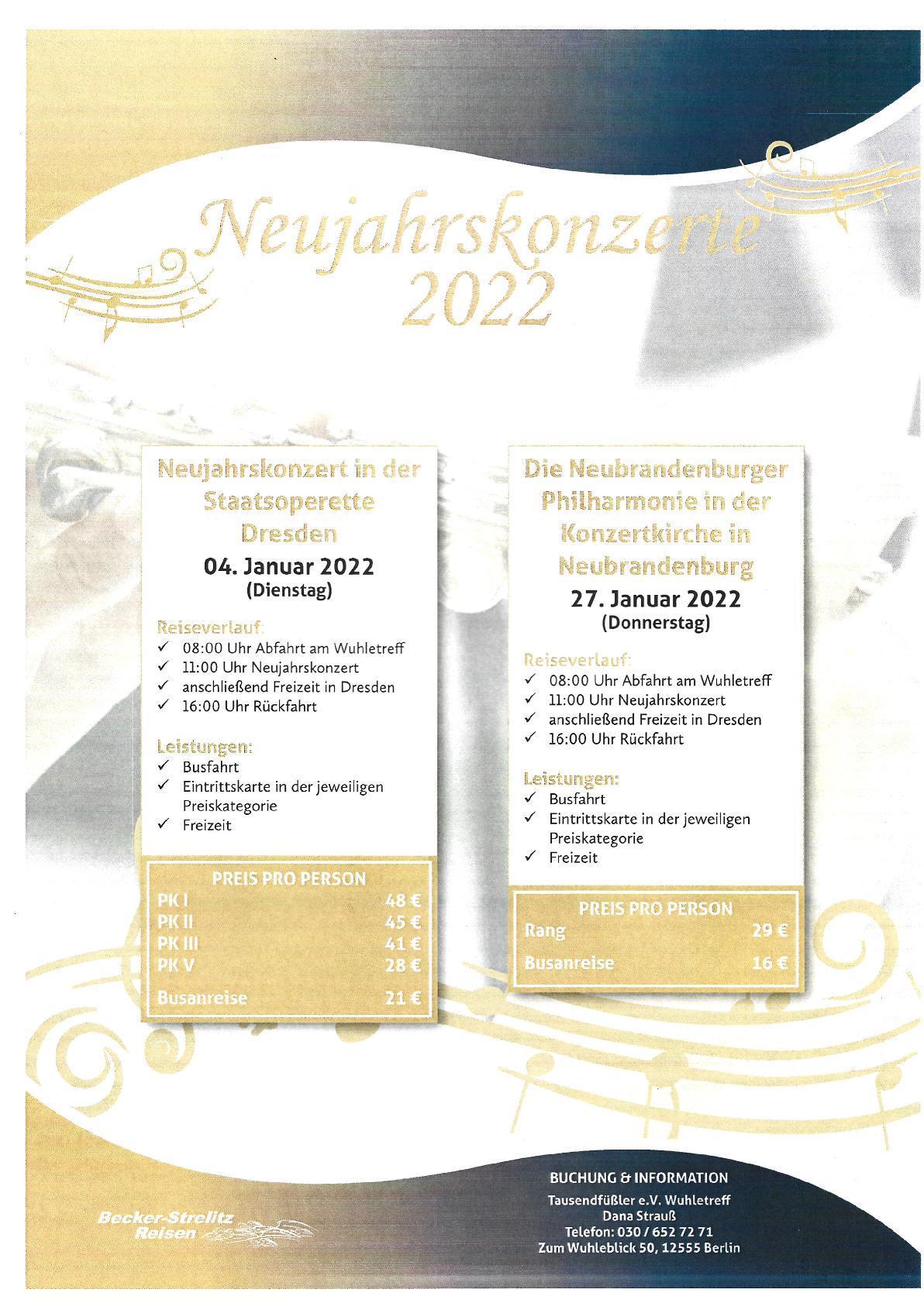 Neujahrskonzerte 2022