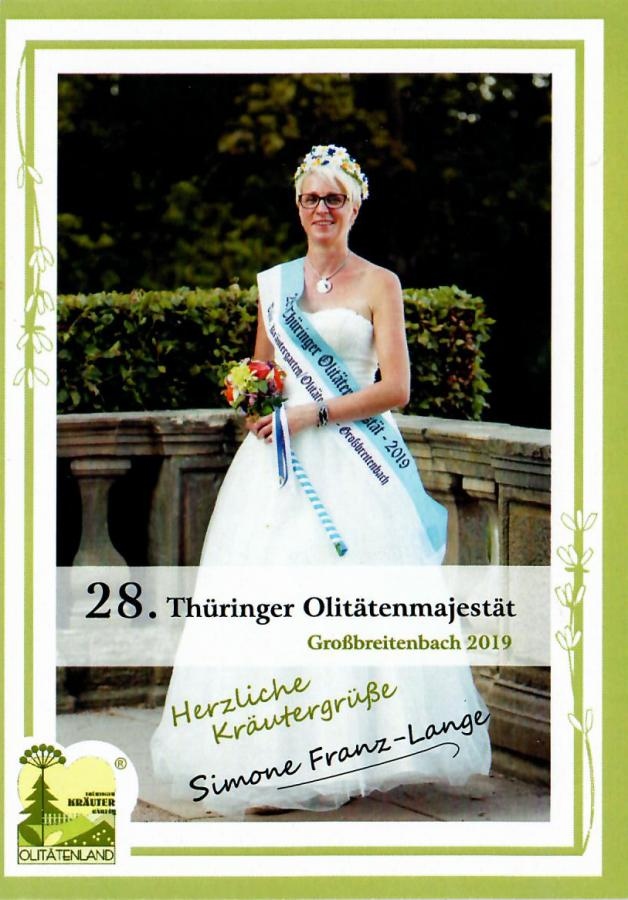 Autogrammkarte Simone Franz-Lange