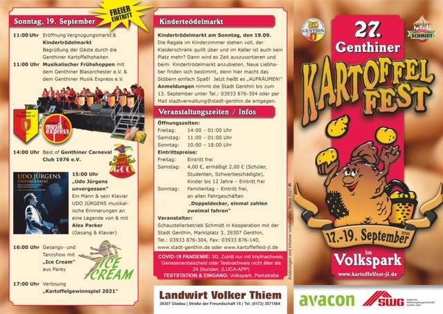 Programm Kartoffelfest 2021