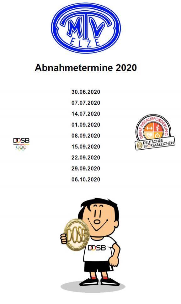 Abhnahmetermine 2020