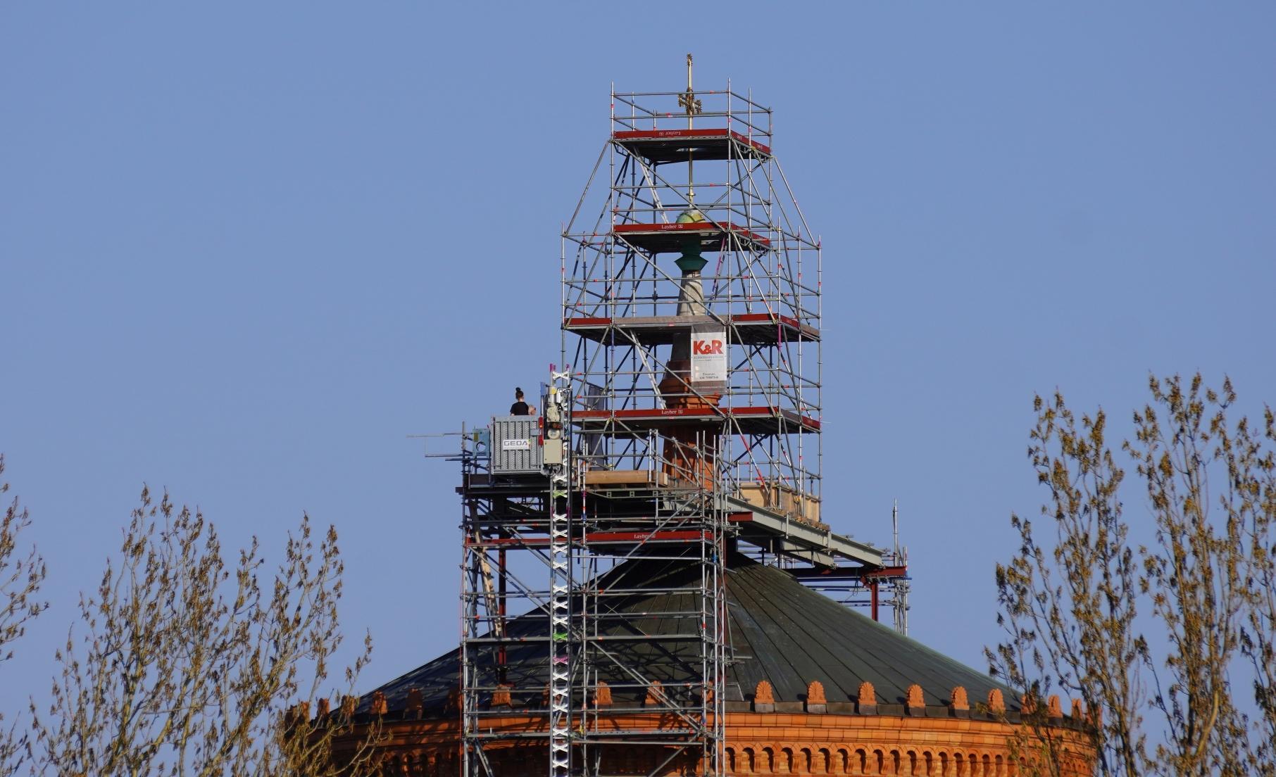 Das neu errichtete Kreuz