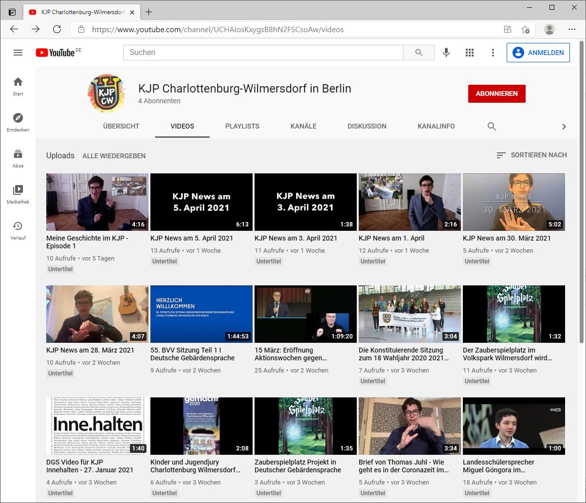 Screenshot Youtube KJP