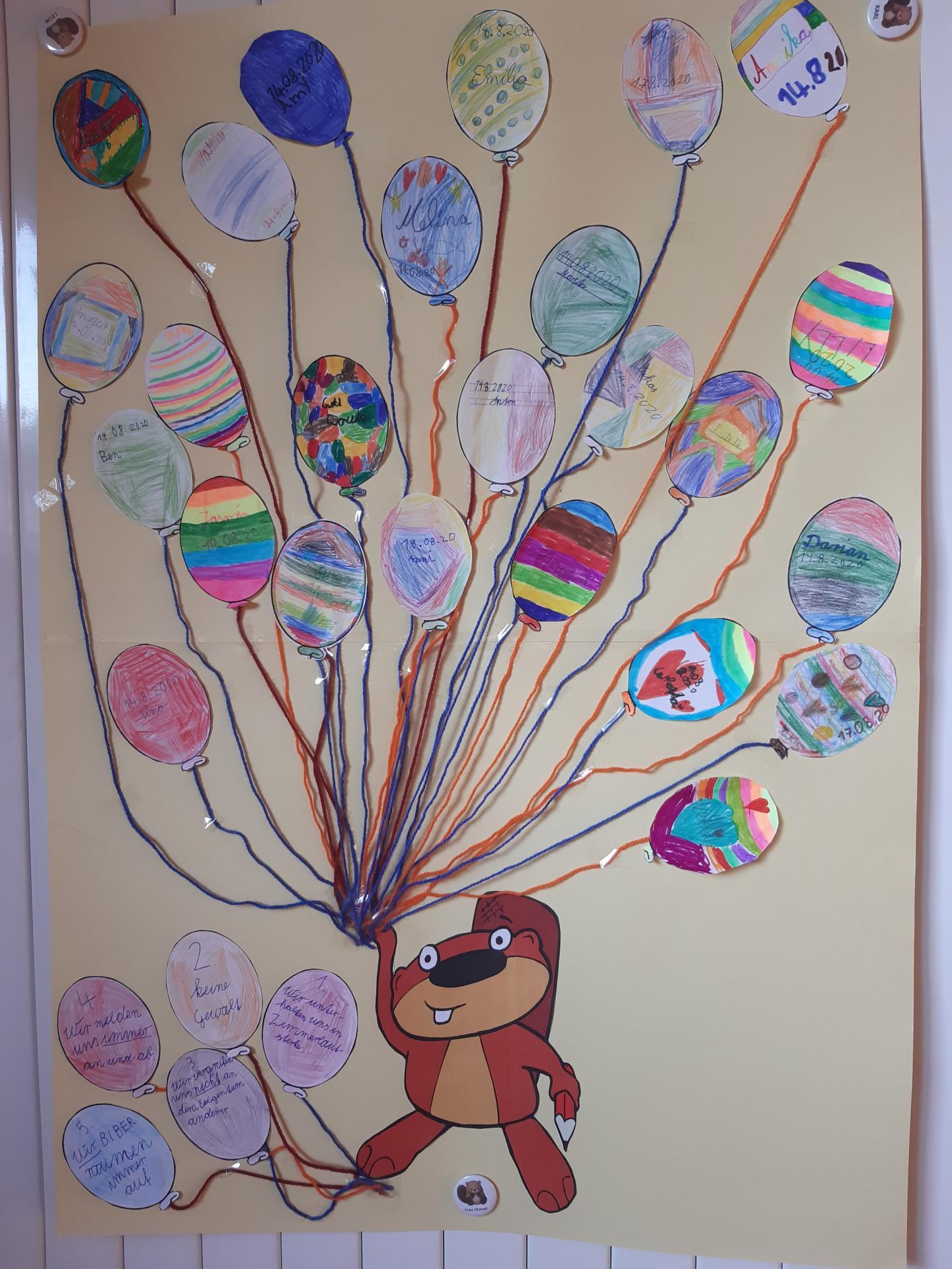 Biberregeln Ballons